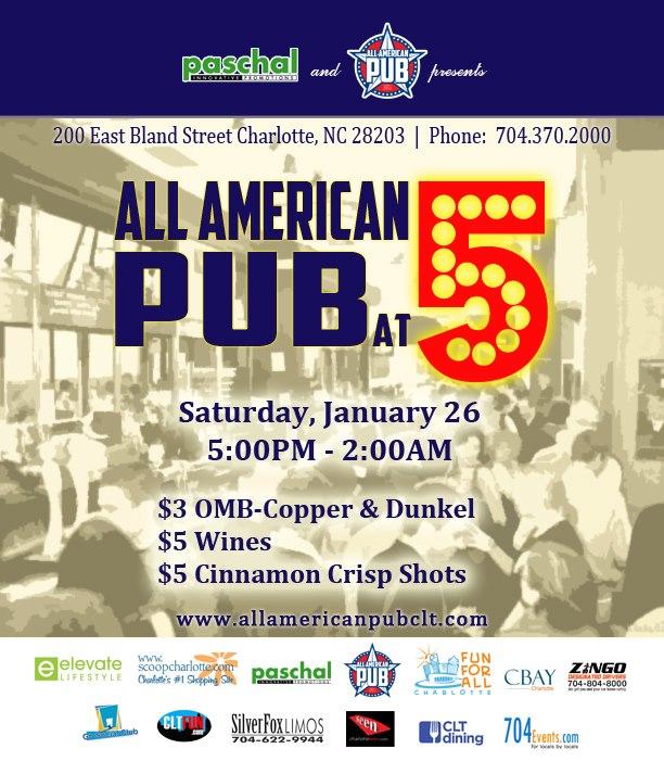All American Pub at 5
