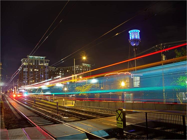 Light Rail South End Night