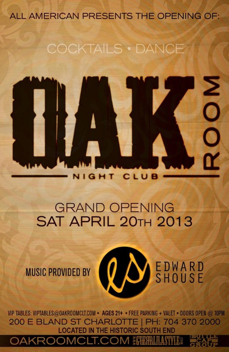 Oak Room flyer